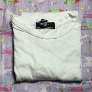 Forever 21 men white t shirt short sleeve
